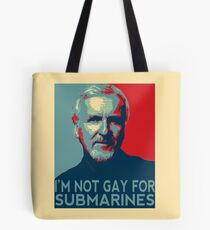 James Cameron is NOT Gay for Submarines Tote Bag