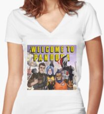 Welcome to Pandora! Women's Fitted V-Neck T-Shirt