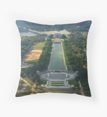 View from the Washington Monument with sculpture by Jorge Rodriquez Gerada Throw Pillow