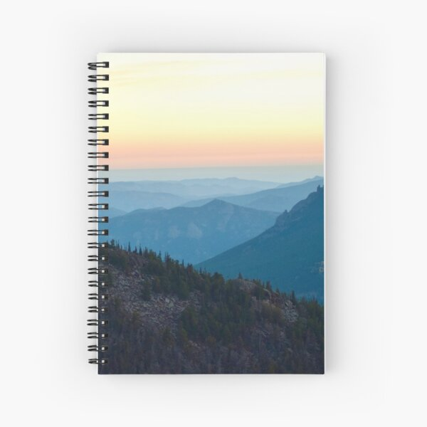 Sunrise in Rocky Mountain National Park Spiral Notebook