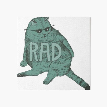 rad cat Art Board Print