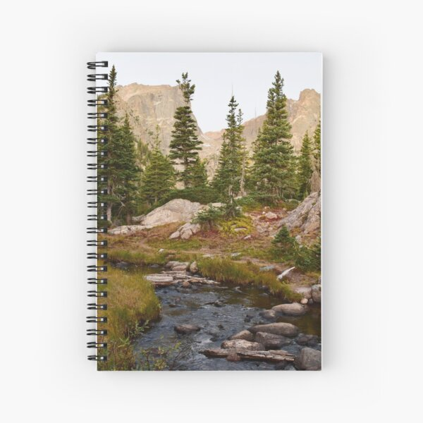 Morning Light on The River - Colorado Spiral Notebook