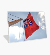 British ensign flag on ship, Brest 2008 Maritime Festival, Brittany, France Laptop Skin
