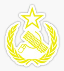 Communist Keyboard & Mouse Sticker