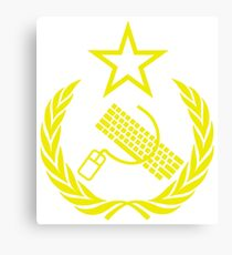 Communist Keyboard & Mouse Canvas Print