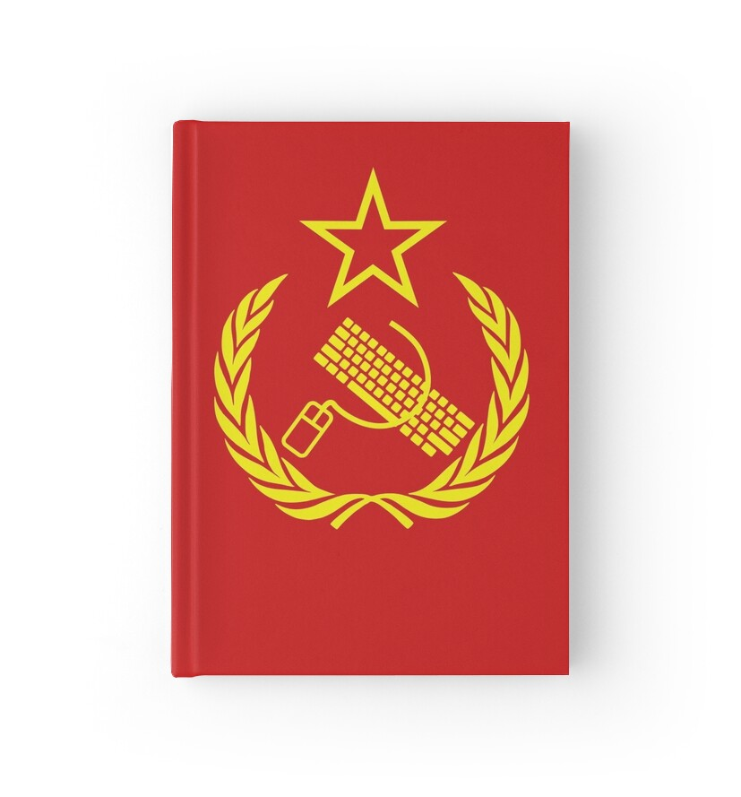 Communist Keyboard Mouse Hardcover Journals By Chocodole Redbubble