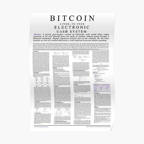 Bitcoin-Whitepaper Poster