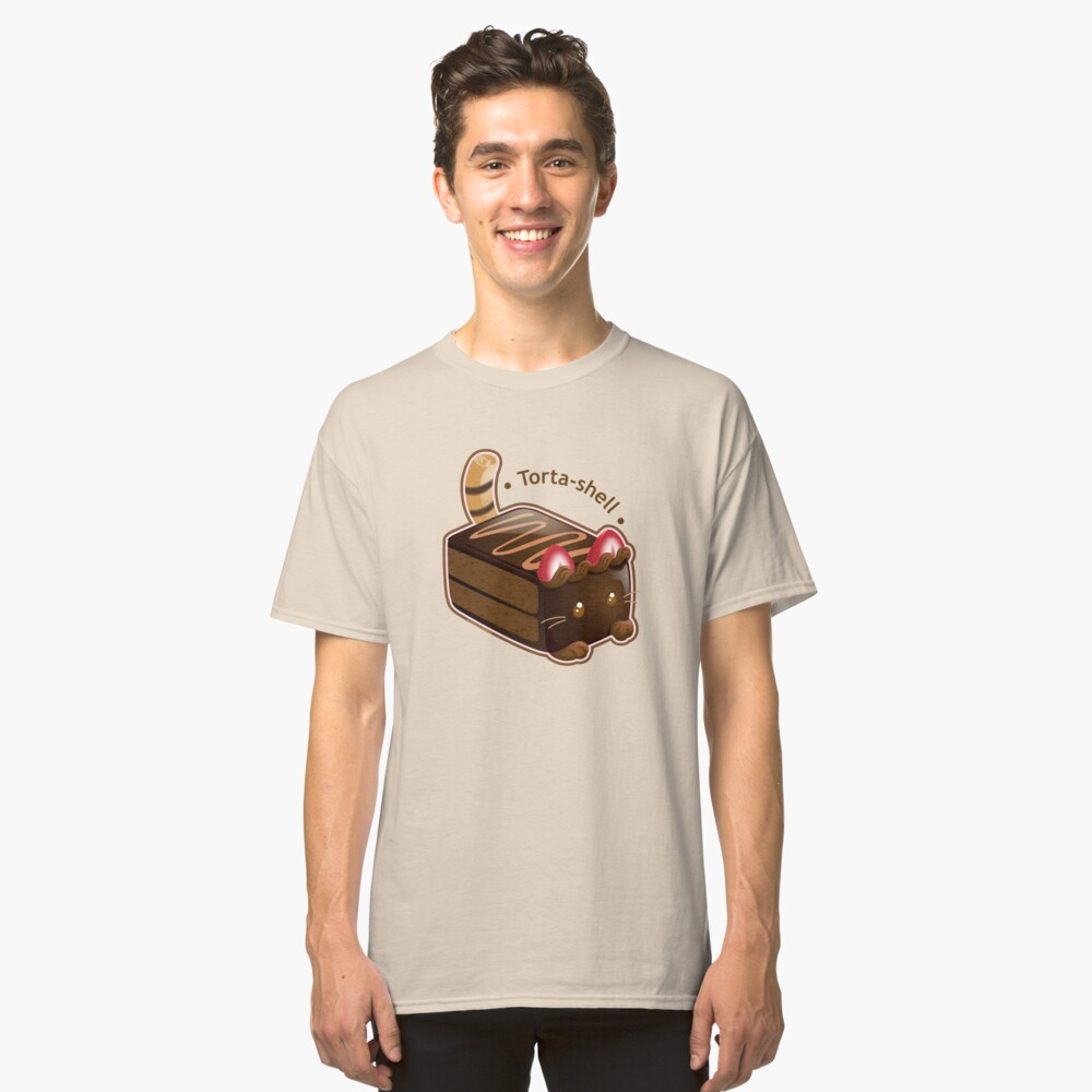 Purrista Pawfee: Cute Chocolate Cake Cat Classic T-Shirt Front