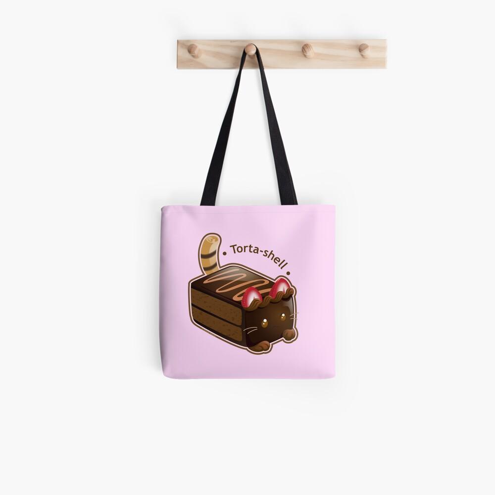 Purrista Pawfee: Cute Chocolate Cake Cat Tote Bag