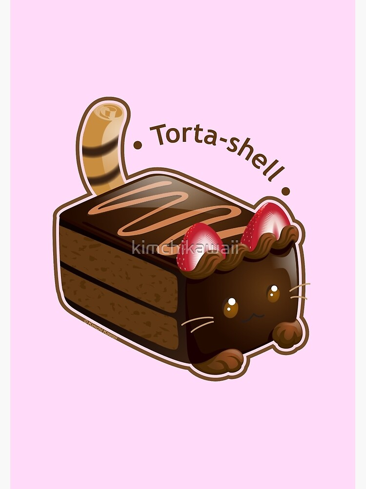 Purrista Pawfee: Cute Chocolate Cake Cat by kimchikawaii
