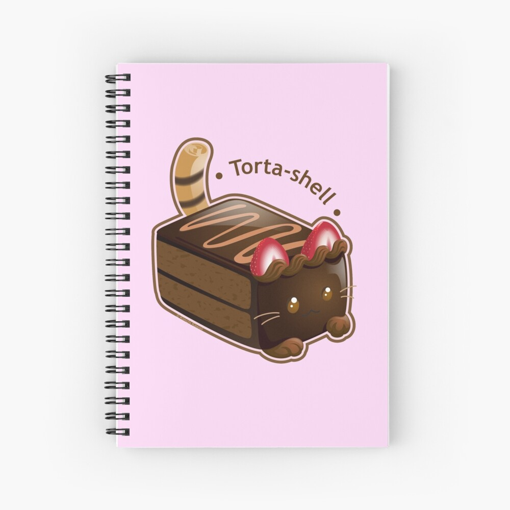 Purrista Pawfee: Cute Chocolate Cake Cat Spiral Notebook