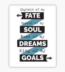 Captain Of My Fate! Sticker