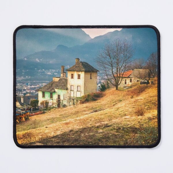 Old house in the Italian countryside by the Alps Mouse Pad
