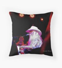 """Lady Blue"" Leon Russell Throw Pillow"