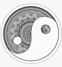 Ying and Yang Sticker