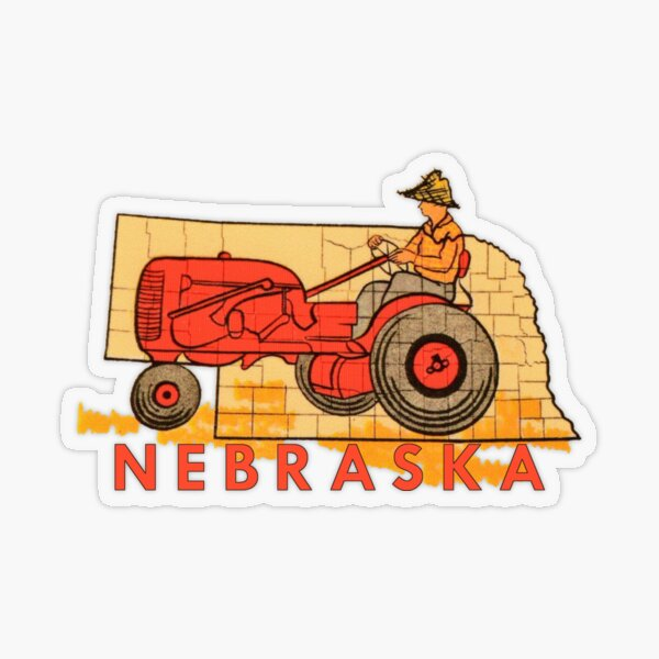 Vintage Nebraska Travel Decal Transparent Sticker