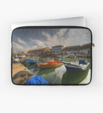 resting boats at the Jaffa port Laptop Sleeve
