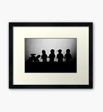 silhouette of Spacemen Framed Print