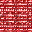 Wirehaired Pointing Griffon Silhouettes Christmas Sweater Pattern by Jenn Inashvili