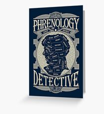 Phrenology of a detective - Sherlock Greeting Card