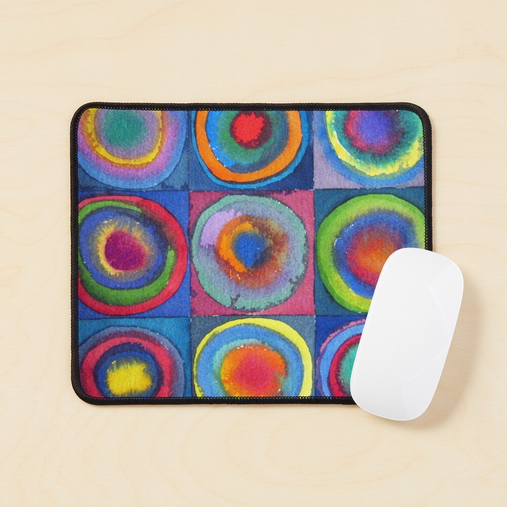 Circles - abstract watercolour by Francesca Whetnall Mouse Pad