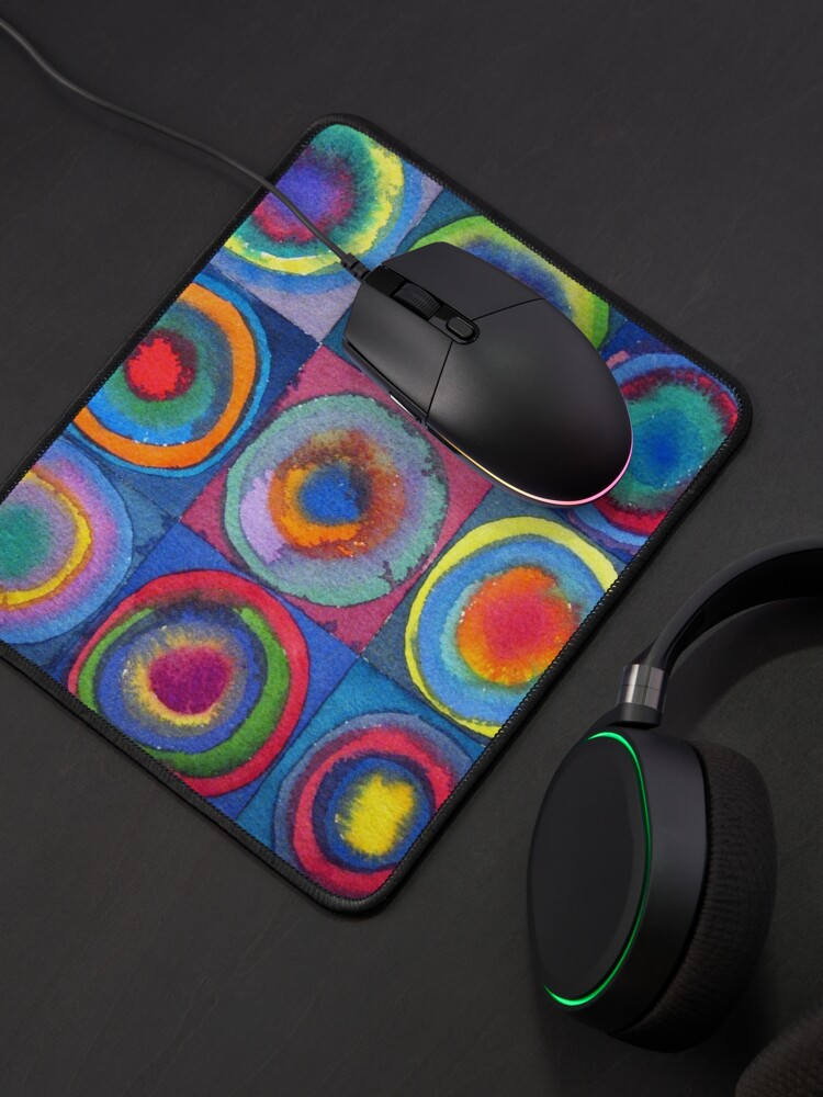 Alternate view of Circles - abstract watercolour by Francesca Whetnall Mouse Pad