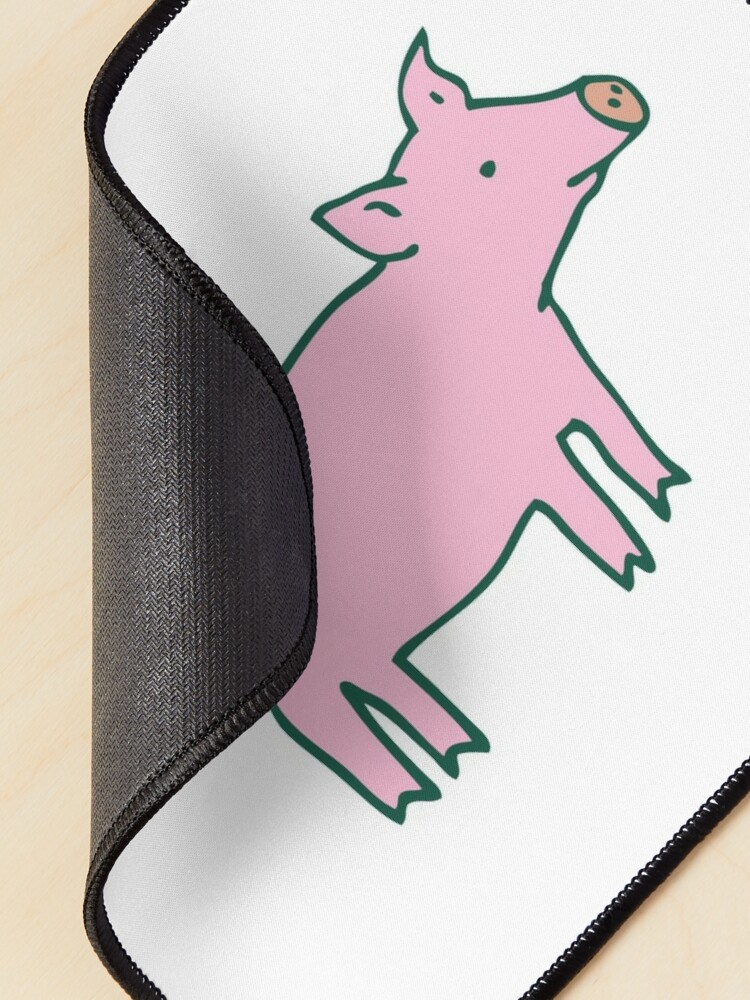 Alternate view of Simple Pig - pink and white - cute animal pattern by Cecca Designs Mouse Pad