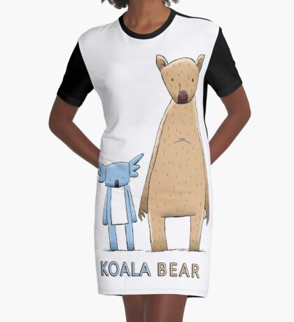 Cute Koala Bear Graphic T-Shirt Dress