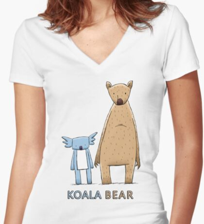 Cute Koala Bear Fitted V-Neck T-Shirt