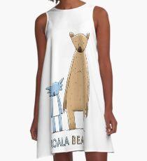 Cute Koala Bear A-Line Dress