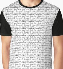 Swear Pattern Print Graphic Shirt Graphic T-Shirt