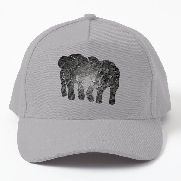 Two elephants (Aqua) Baseball Cap