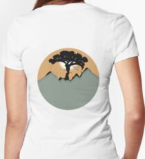 Love in Nature - Adam and Eve Women's Fitted V-Neck T-Shirt