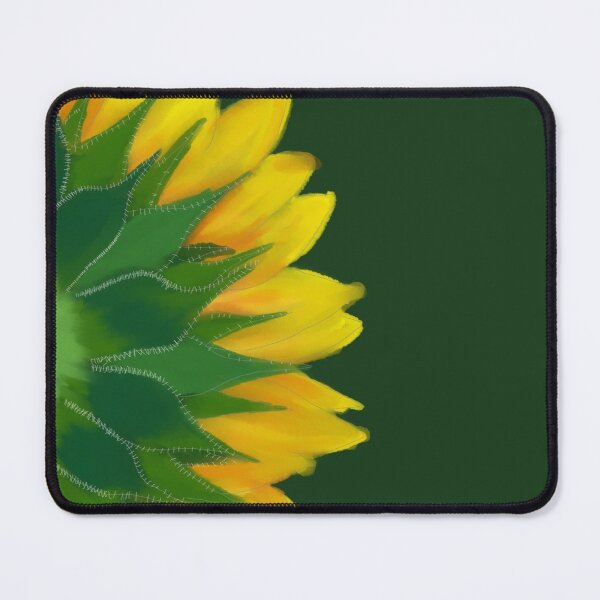 Sunflower close up digital painting Mouse Pad