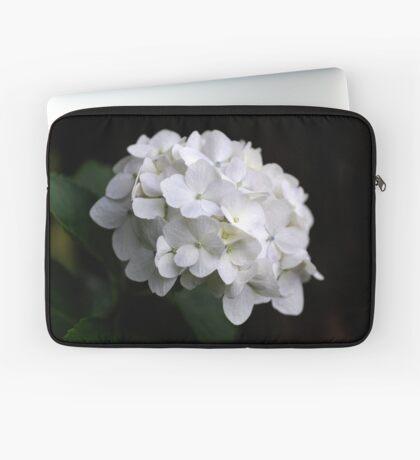 White Hydranga Laptop Sleeve