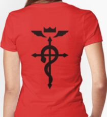 Flamel's Cross Fullmetal Alchemist Women's Fitted V-Neck T-Shirt