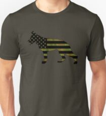 German Shepherd: Camo American Flag Unisex T-Shirt