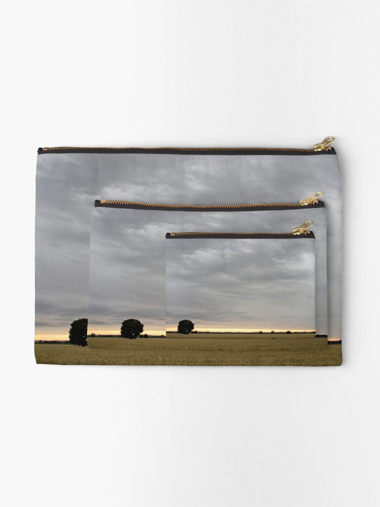 Alternate view of Last light of Sunset - Parkes - NSW - Australia Zipper Pouch