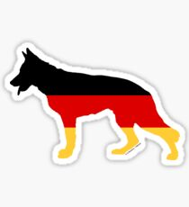 German Shepherd: German Flag Sticker