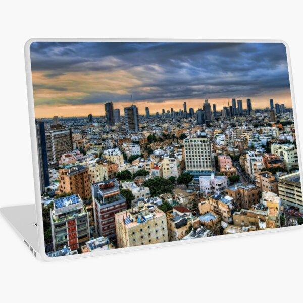 Tel Aviv skyline winter time Laptop Skin