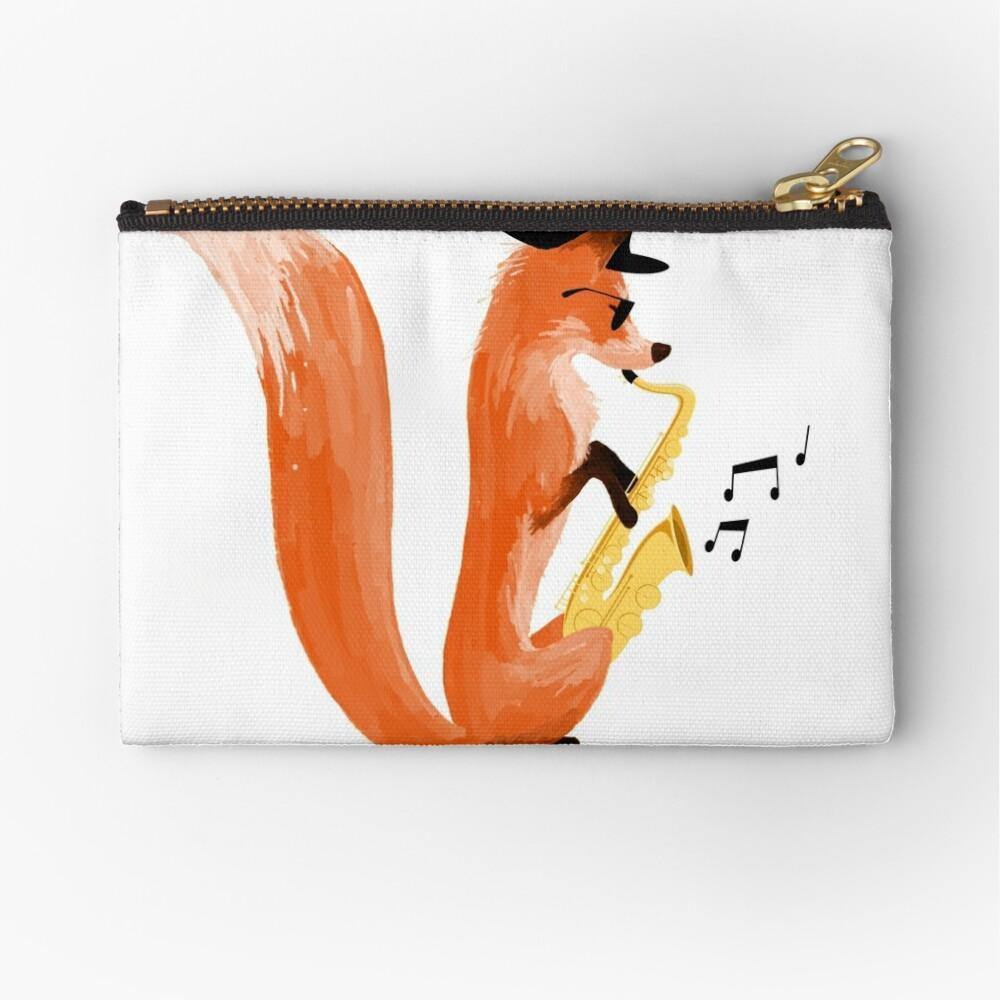 Jazzy Fox Zipper Pouch