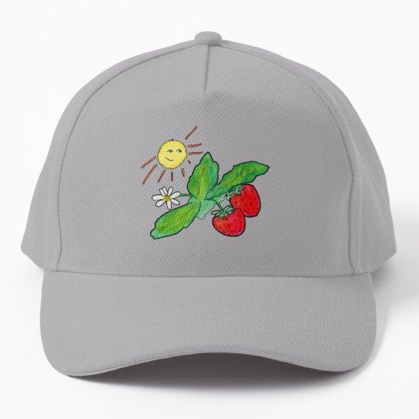 Sunny Strawberry Patch Baseball Cap