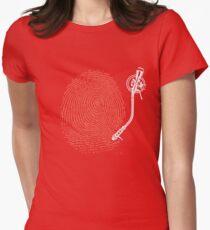 Dj fingerprint Womens Fitted T-Shirt