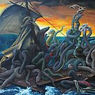 Raft of Reptile Rescue after Gericault by SnakeArtist