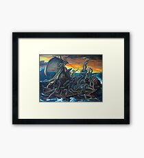 Raft of Reptile Rescue after Gericault Framed Print