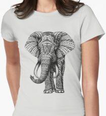 Verzierter Elefant Tailliertes T-Shirt