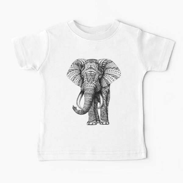 Ornate Elephant Baby T-Shirt