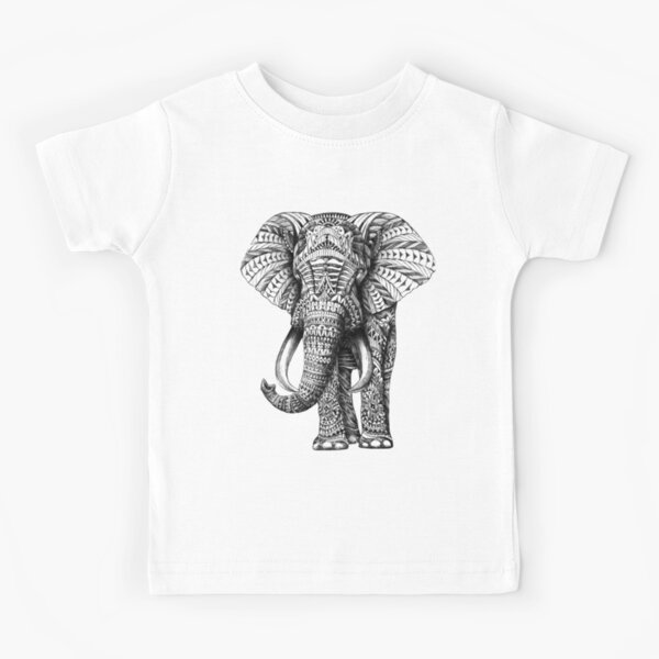 Ornate Elephant Kids T-Shirt