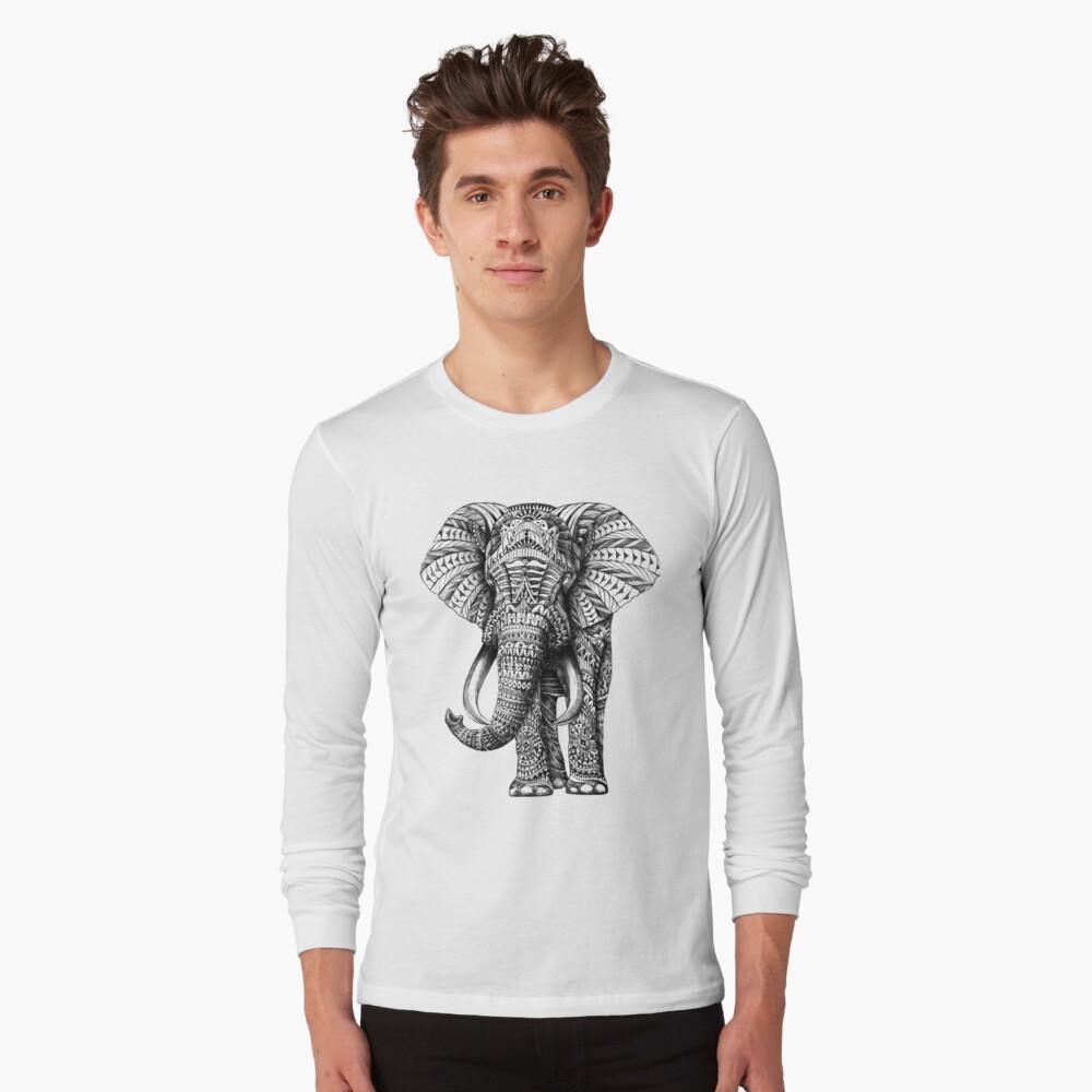 Camiseta de manga largaElefante adornado Delante