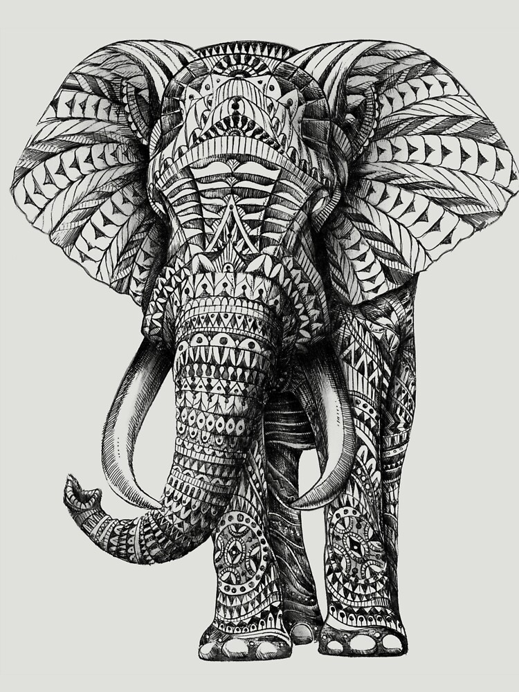 TShirtGifter presents: Ornate Elephant | Unisex T-Shirt